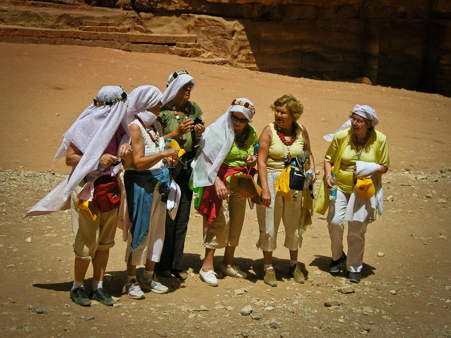 Petra Tourists