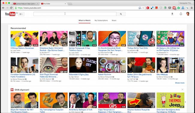 youtube ekran